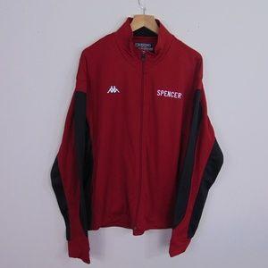 Kappa Men L Track Jacket High School Logo Red